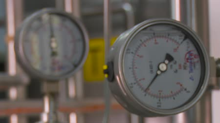 aço inoxidável : Kiev, Ukraine - June 2017: Pressure gauge, measuring instrument close up.