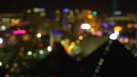 nevada : Out Of Focus Vegas Strip Casino Lights Wide View. Las Vegas strip at night. Blur background Las Vegas Nevada strip at night. Blurred city lights of Las Vegas Boulevard.