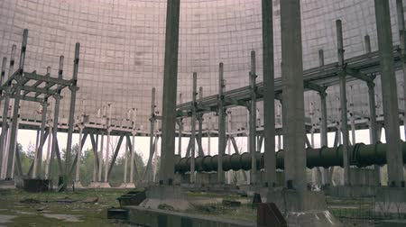 chernobyl : Cooling tower in exclusive zone. Chernobyl Cooling tower round construction nuclear power plant reactor 5. Cooling tower of Chernobyl Nuclear Power Station, Chernobyl Exclusion Zone, Ukraine.