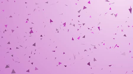 ima : Pink Violet, blurred, Tri Polygon Particle background. Abstract. Full HD loop, 1080p. Motion graphics element Footage Stock mozgókép