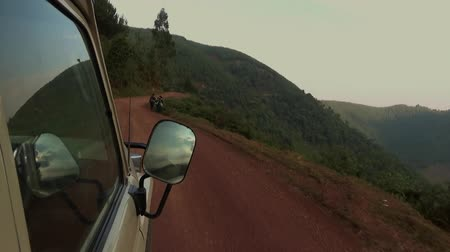 Off-road driving towards the Impenetrable Bwindi Forest, Uganda.