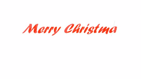 Merry Christmas and Happy New Year greetings card Stok Video