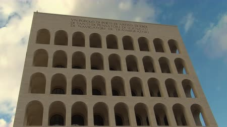 eur : Timelapse of the Palace of Italian Civilization, Rome, Italy.