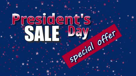 dag van de arbeid : President's Day Sale, speciale aanbiedingstekst Stockvideo