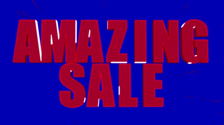 экономить : Amazing sale, up to 50% off, only this week promotional video Стоковые видеозаписи