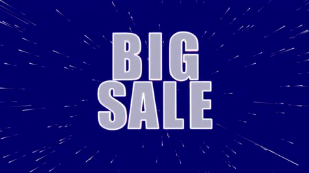 barganha : Big sale, up to 50% off, only this week promotional video Stock Footage