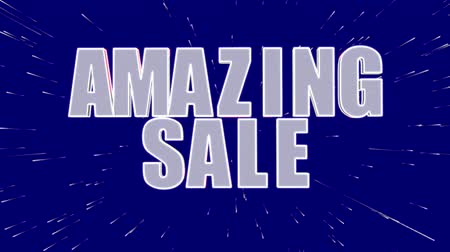 торг : Amazing sale, up to 50% off, only this week promotional video Стоковые видеозаписи