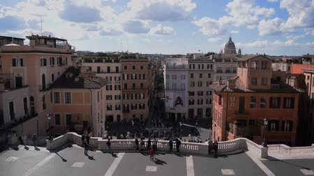klatka schodowa : March 8th 2020, Rome, Italy: View of Piazza di Spagna with few tourists because of the coronavirus epidemic
