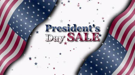 memorial day : Banner on sale with special offers for the Presidents day Stock Footage
