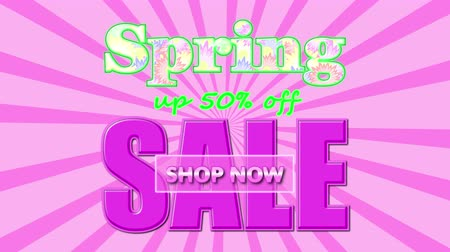 especial : Banner on the special offers for the Spring Sale, up to 50% off, shop now