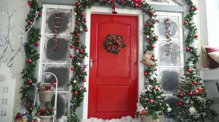 aydınlatma : Incredibly beautiful Christmas decor Stok Video