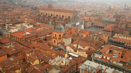 bolognai : Italy, Bologna. Aerial view from Asinelli tower