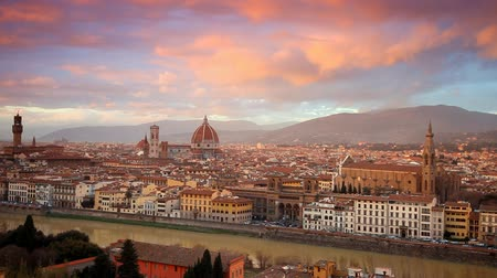 toscana : Sunset over Florence, Italy