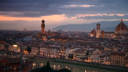 florencja : Florence after sunset. Italy