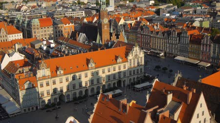 polônia : Aerial view of Wroclaw old town square, Poland.