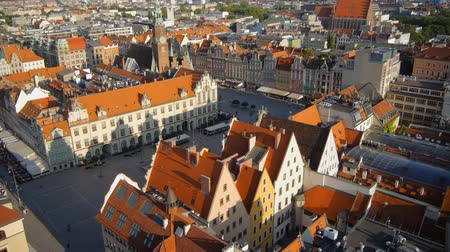 historical building : Aerial view of Wroclaw old town square, Poland