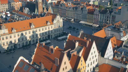 polônia : Aerial view of Wroclaw old town square, Poland