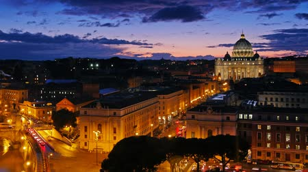 vatikan : Sunset time-lapse of the Vatican City