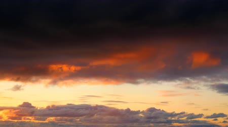sunset light : Sunset clouds Stock Footage