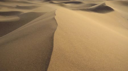 yazd : Sand storm on sand dunes Stock Footage