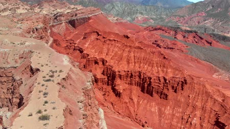 Észak amerika : Flying over Multicolored mountains in Quebrada Colorado, Argentina, Salta