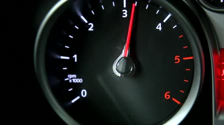 drive : rev counter tachometer close up 1080p Stock Footage