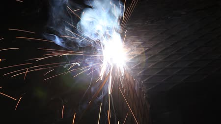 metal worker : Close up photo of welding
