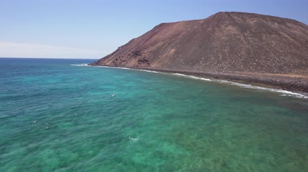 deserted : aerial view of the coast of the Lobos island, Fuerteventura