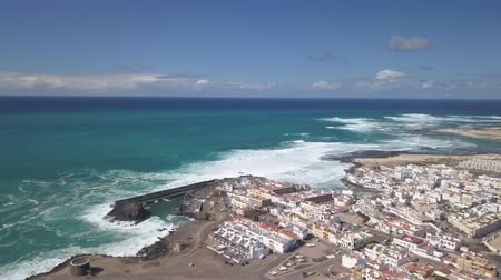 kanarya : aerial view of El Cotillo bay, fuerteventura - canary islands