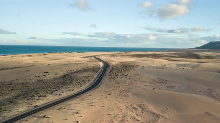 dune : aerial view of desert road