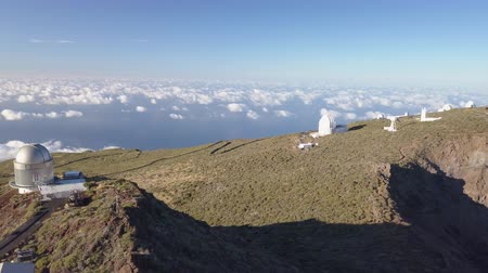 keşfetmek : View Of Observatories From Top Of Roque De Los Muchachos, La Palma