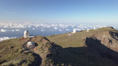 távcső : View Of Observatories From Top Of Roque De Los Muchachos, La Palma