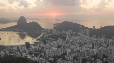 sugar loaf : Time lapse of Sugar Loaf and Botafogo Bay in Rio de Janeiro