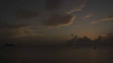 turk : beautiful time-lapse of the sunset over the ocean somewhere in Caribbean