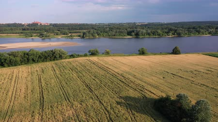 vistula : Aerial view of a rural countryside in Poland