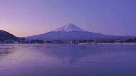 arquipélago : 4K Timelapse Movie - Sunrise viewing MtFuji at Lake Kawaguchiko.