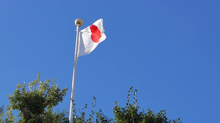neutrality : 4K Movie - National flag of Japan waving in the wind. Stock Footage