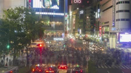 nonymous crowd of people walking in Shibuya, Tokyo, Japan 4K