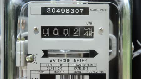 electric : Close up home electricity watt hour meter