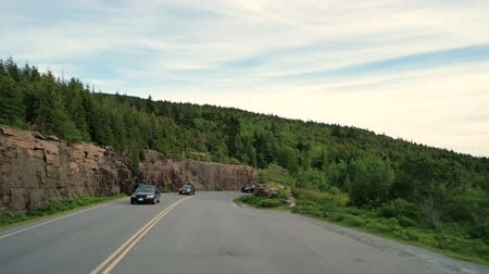 řídit : 60FPS POV driving down the Cadillac Mountain in the Acadia National Park