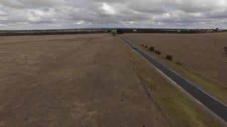 ayrılmış : Aerial of highway through farm lands in Australia