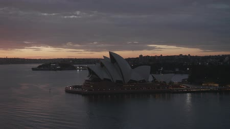 Sydney Harbor morning glow real time Wideo
