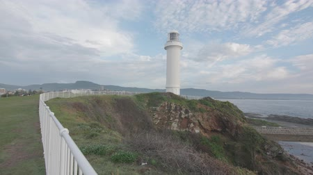 POV stablized footage of Wollongong lighthouse Wideo