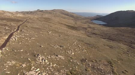 Mount Kosciuszko and Lake Cootapatamba aerial landscape