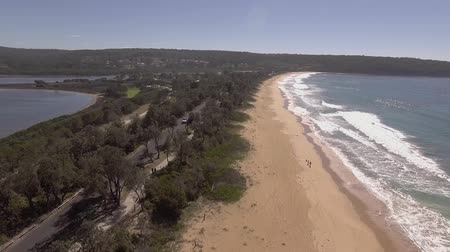 meridional : fly over Eden beaches, Australia