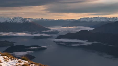 Roys Peak cloudscape time lapse, south island New Zealand