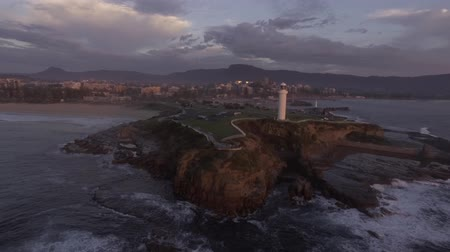 aerial footage of Wollongong lighthouse