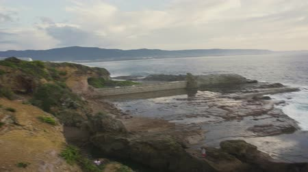 POV footage of Wollongong lighthouse Wideo