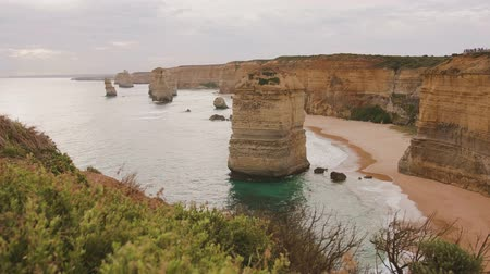 australian landscape : The sunset over the Twelve Apostles, Victoria,Australia Stock Footage