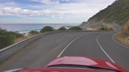 apostoles : 4k 60p La costa del Great Ocean Road drving POV, Australia.